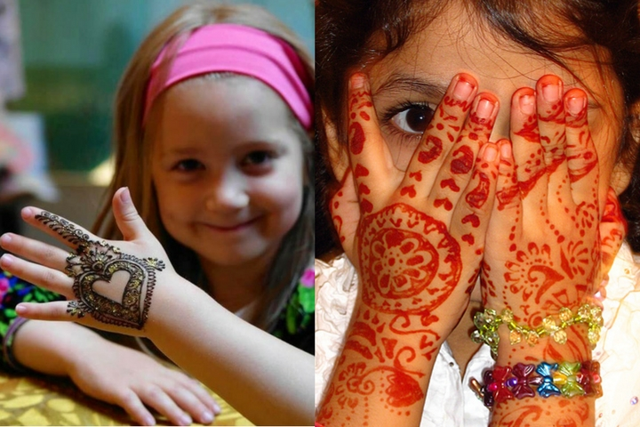 Top 10 Easy And Cute Mehandi Designs For Kids In 2018