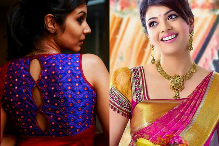 Embroidered Blouse Designs For Chiffon Sarees