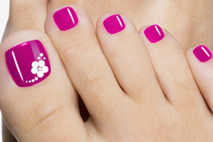 pink Toe nail art - Top 10 Cute Pink Toe Nail Art Designs And Ideas - Simply Attractive!