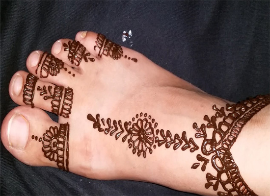 foot mehandi