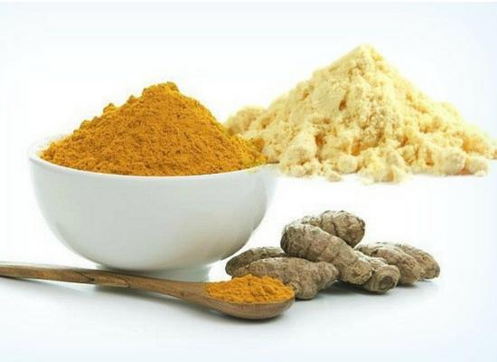 Chickpea flour and turmeric
