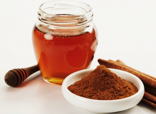 Cinnamon stick with honey