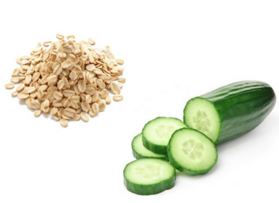 Cucumber with Oatmeal