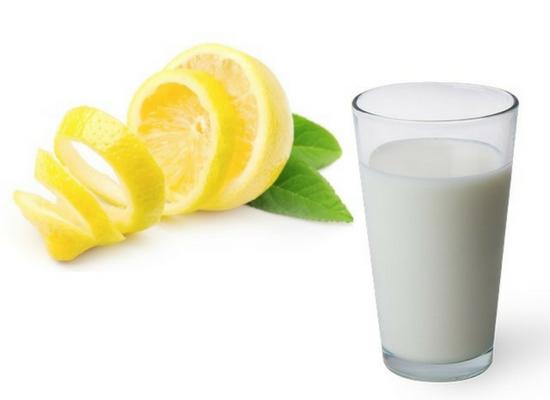 Lemon with milk