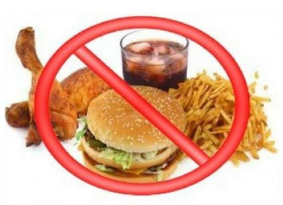 No to junk food
