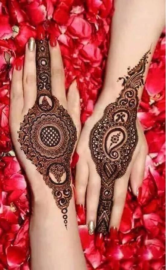 bangle mehndhi designes