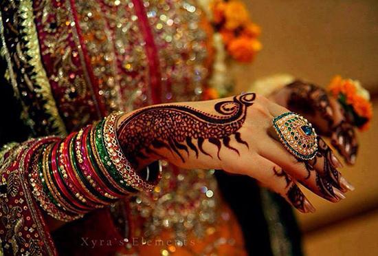 Arabic bridal mehndi design 121