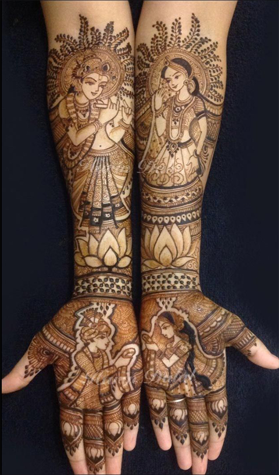Dulhan Mehandi Krishna Design