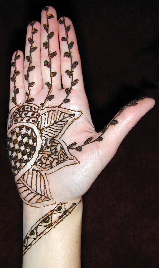 Elegant mehndi Designs For Youngsters