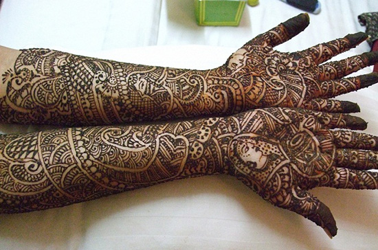 Full Arm Length Mehndi Design