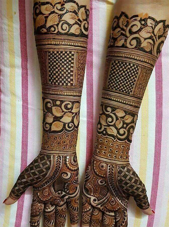 Full Front Hands Bridal Mehendi