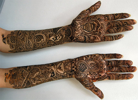 Full hands Latest mehendi design