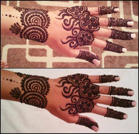 Fully Floral Mehndi Design 2