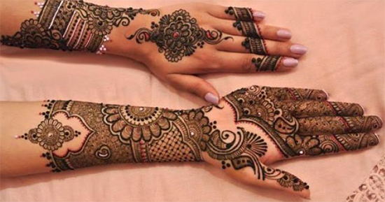 Latest Front And Back Hand Mehendi
