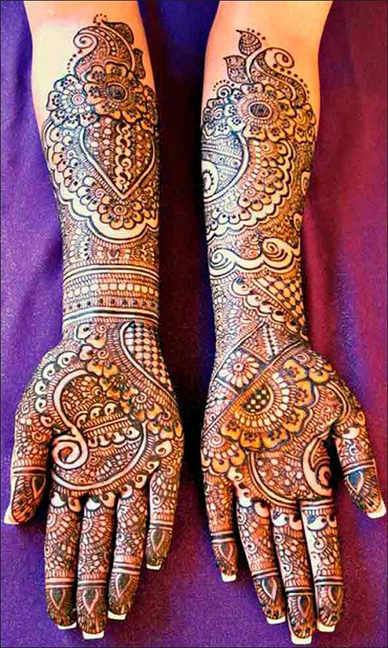 Latest full hands dulhan mehandi