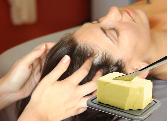 Massage with butter