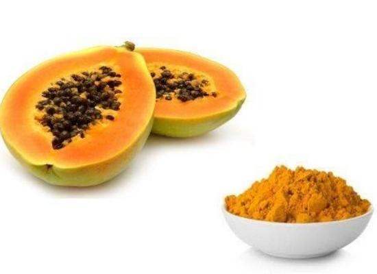 Papaya with turmeric