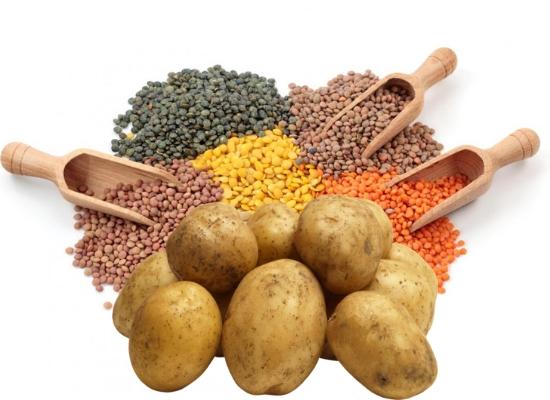 Potato with lentils