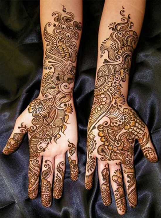 Shaded Full hands Dulhan mehandi