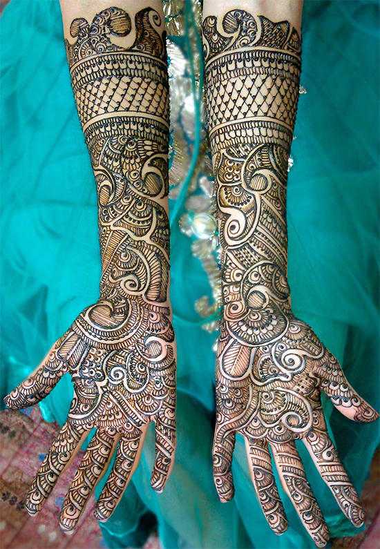 Stylish Arm and Wrist Full Hands Dulhan Mehandi