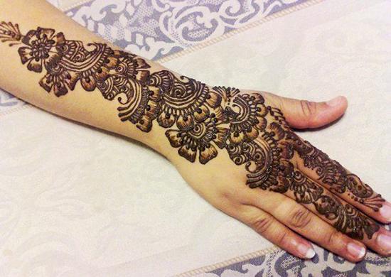 mehandiFloral Henna Design For Eid Ul Fitr
