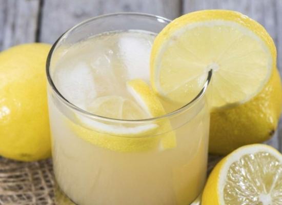 Lemon juice with sugar and salt