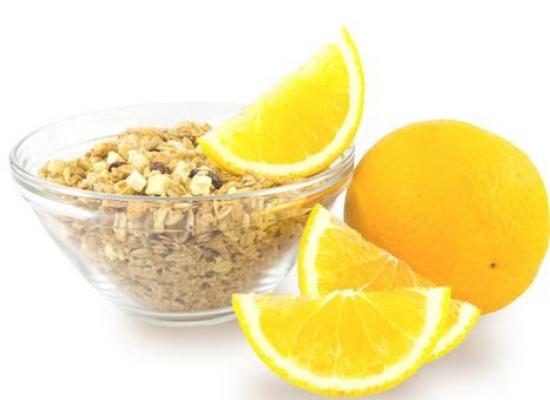 Oatmeal with lemon juice