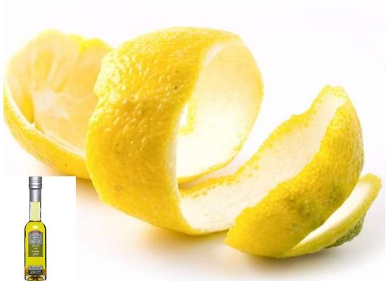 lemon peel with olive oil