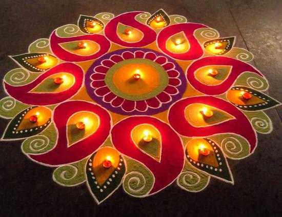 beautiful colorful diwali rangoli patterns