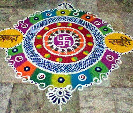Swastik Diwali Rangoli Patterns