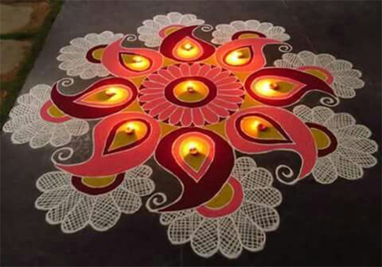 creative rangoli diwali patterns