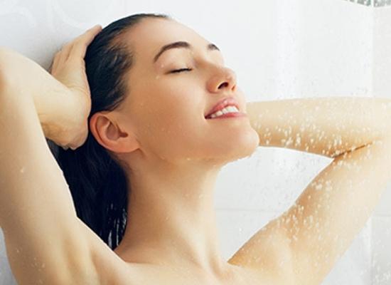 Bath with lukewarm water
