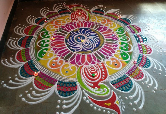 Kolkata rangoli designs