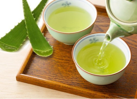 Green tea with aloe vera