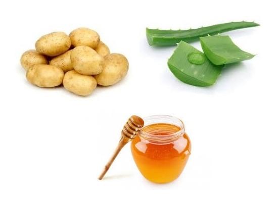 Potato, honey and aloe vera hair mask:
