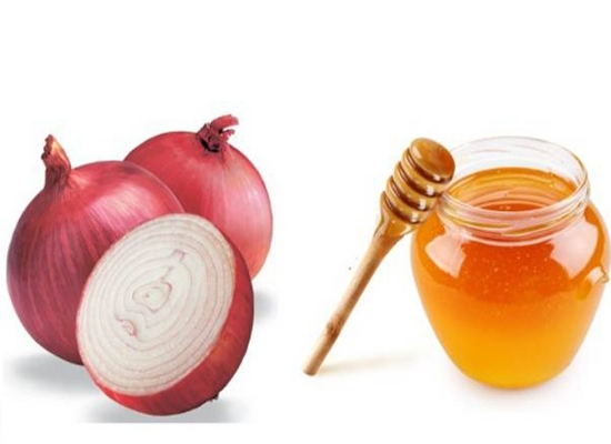 Red onion and honey: