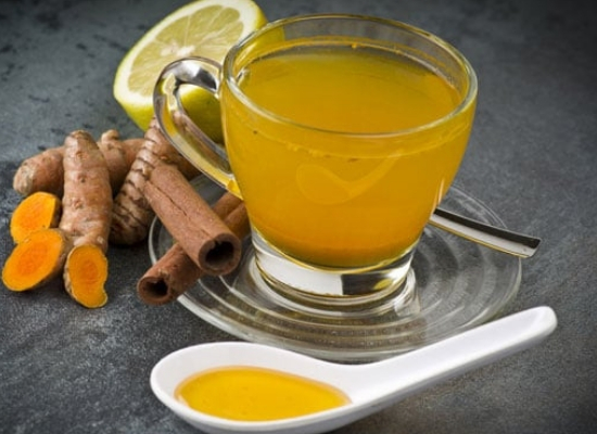 Turmeric , milk and lemon juice