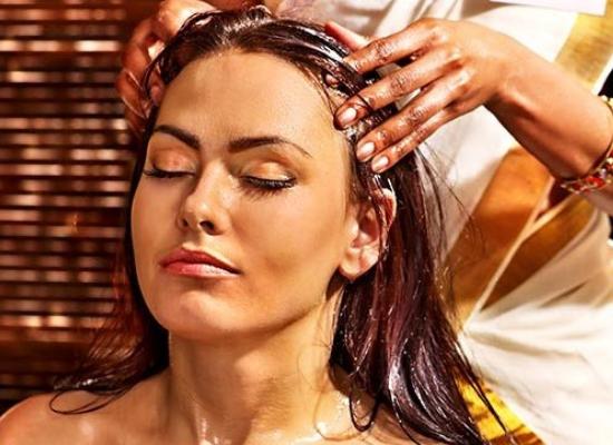 oil hair massage
