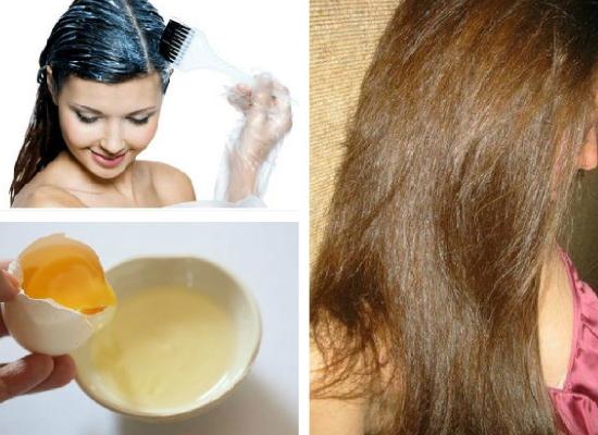 Dry hair egg pack
