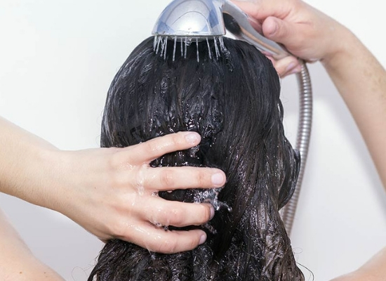 Hard water for hair care