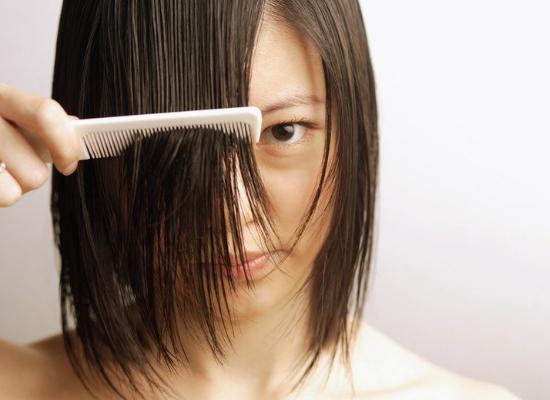 Wet hair combing